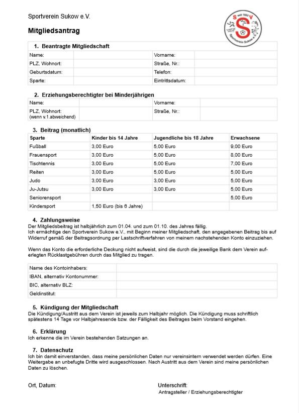 Verein kündigung mitgliedschaft Sportverein Kündigung